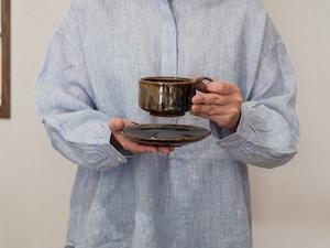 流し掛けコーヒーカップ&ソーサーA/鶴田季子