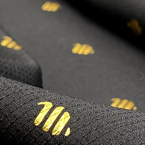 BARBER STRONG カットクロス ブラックx24K ゴールドロゴ