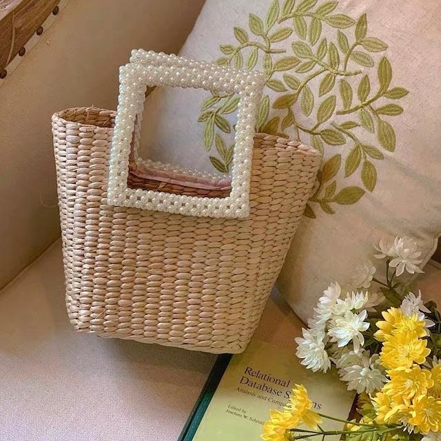 pearl square handle bag