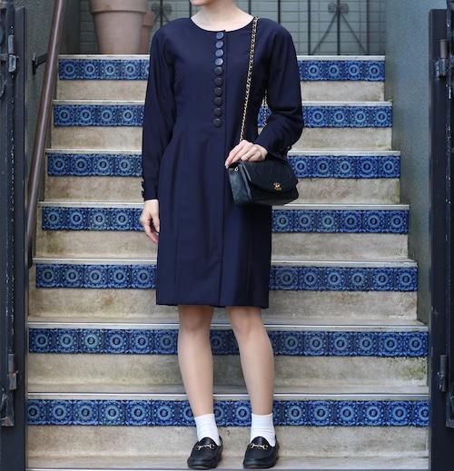 .Christian Dior FRONT BUTTON ONE PIECE/クリスチャンディオールフロントボタンワンピース2000000055480