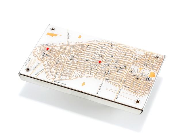 NY回路地図 名刺入れ  白 【名入れ無料サービス実施中】