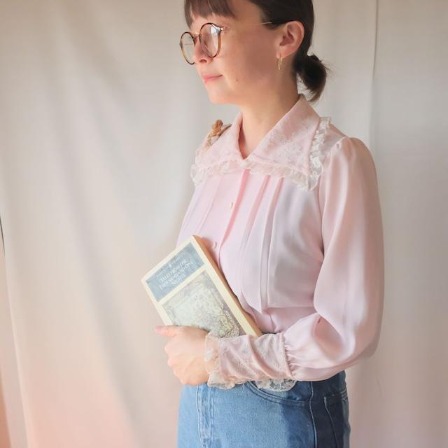 Autumn clothing 2: big collar blouse