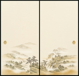 日新814(2枚柄) 織物ふすま紙 203cm×100cm 2枚1組セット
