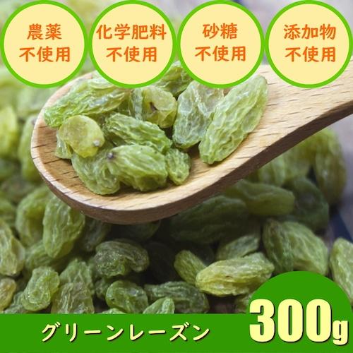 グリーンレーズン(300g)ドライフルーツ 農薬不使用 化学肥料不使用 砂糖不使用 無添加 ノンオイル
