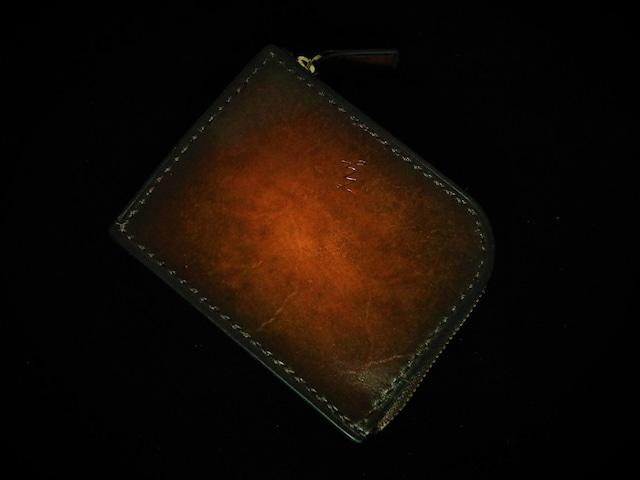 L型ファスナー財布【手染め アンティークブラウン】