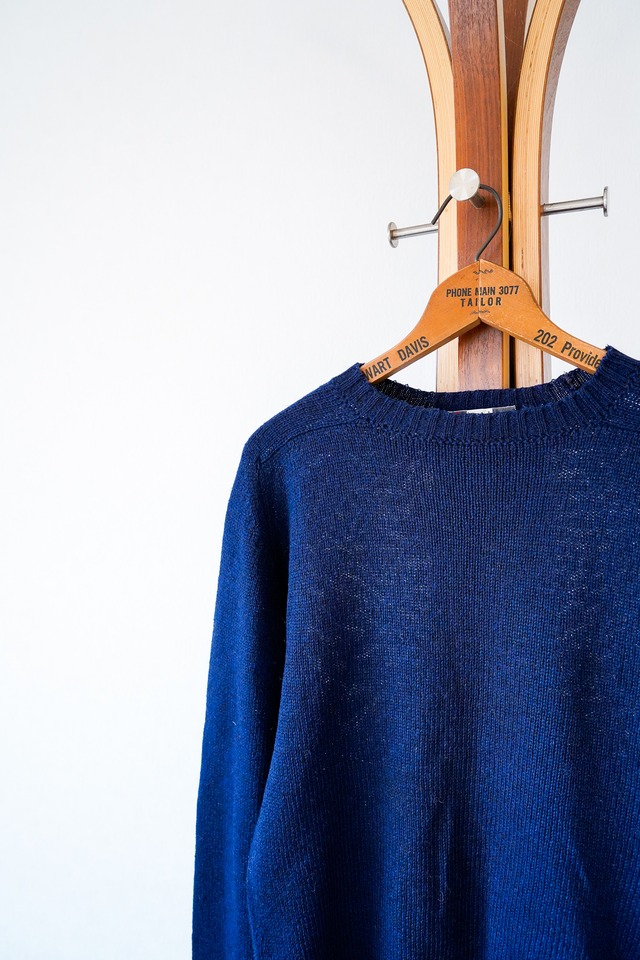 "【1970-80s】""Chess King"" Shetland Wool & Polyester Sweater / v686"