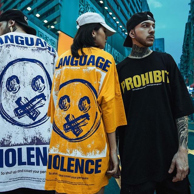 ユニセックス Tシャツ 半袖 メンズ レディース ラウンドネック 英字 バックプリント オーバーサイズ 大きいサイズ ルーズ ストリート TBN-595724004248