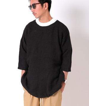 LINEN WAFFLE BAGGY TEE 5/L リネンワッフルバギーTシャツ GS2049951
