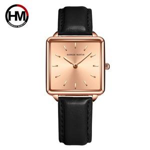 本革ストラップ日本クォーツムーブメントHM-108女性シンプルなデザインのトップの高級ブランド腕時計レディーススクエア腕時計108PH3