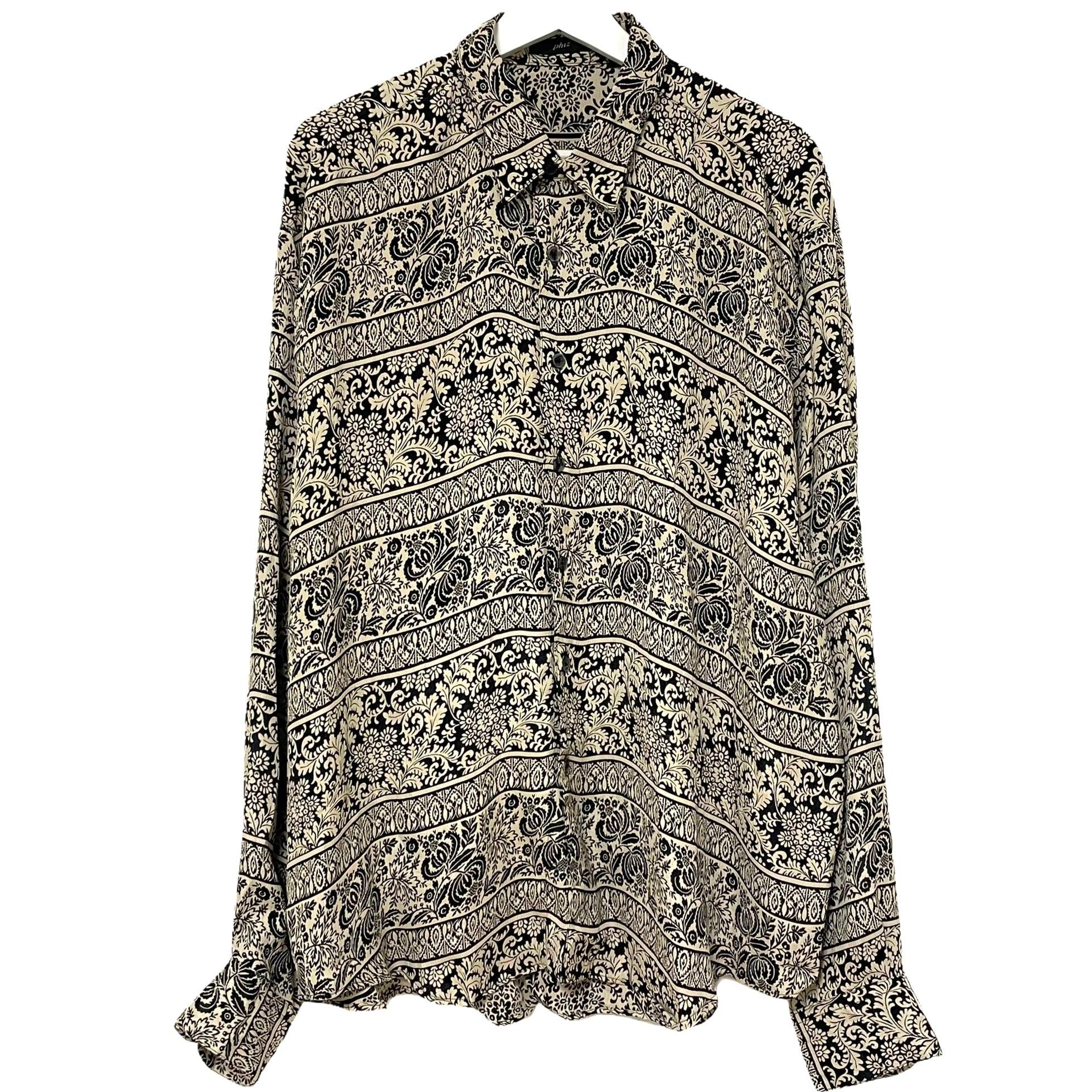 Dead Stock 90's phiz Jacquard Rayon Shirt【5】