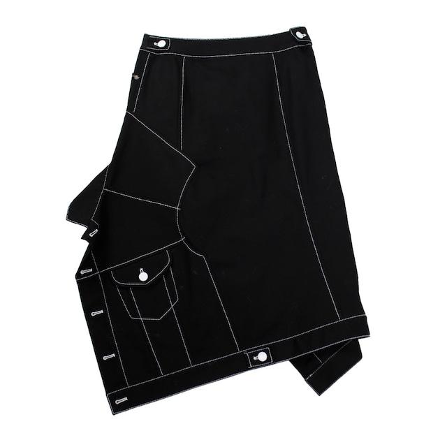 MONSE Denim Jacket Detail Skirt