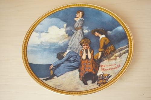 ノーマンロックウェル 絵皿(114-15)
