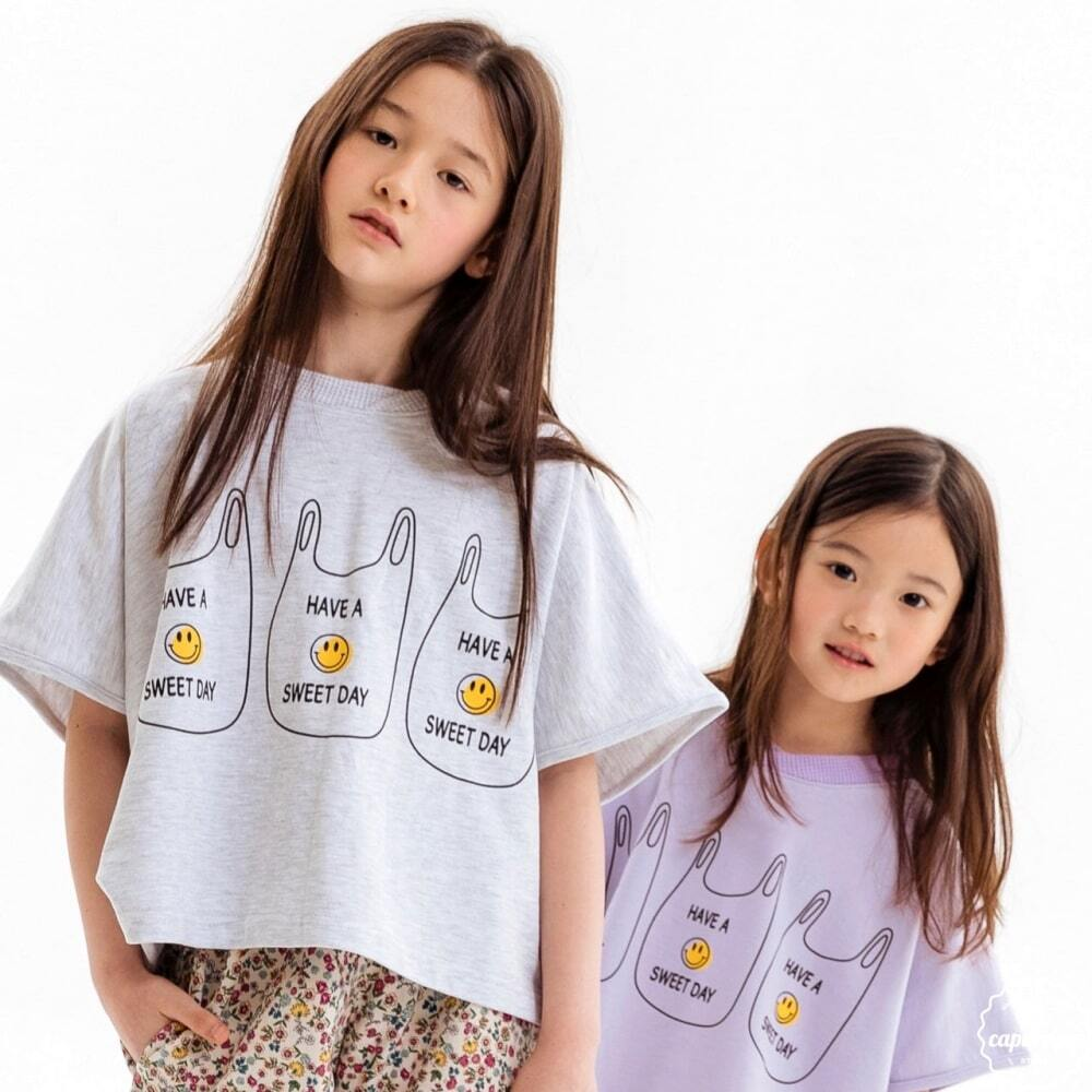 «sold out» en paper smile T shirts 2colors スマイル Tシャツ