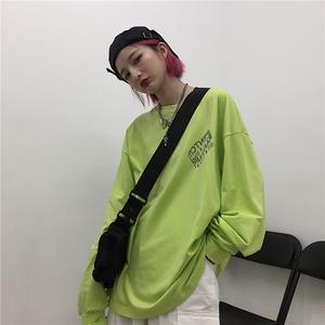 【トップス】ラウンドネックプリントファッション韓国系パーカー42897209