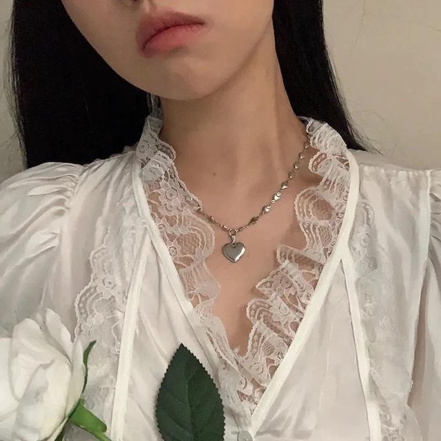 love chain silver necklace