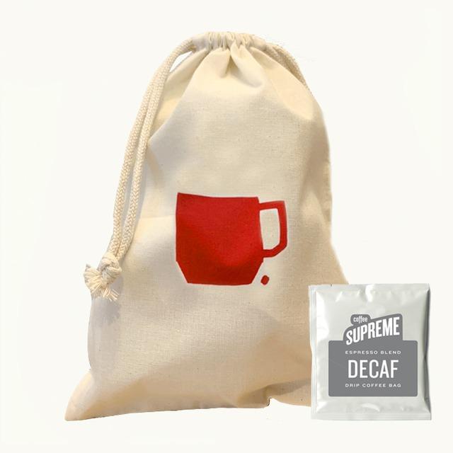 コーヒードリップバッグ5個&巾着セット<DECAF>