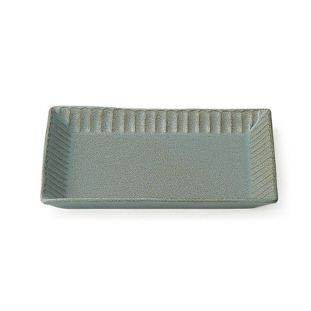 aito製作所 「ライン」 トーストプレート 皿 約20×16cm グレー 美濃焼 287171