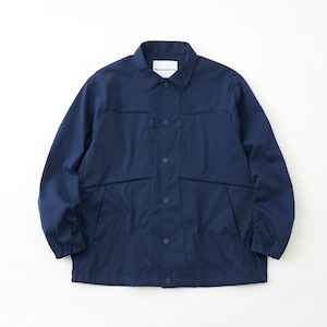 STRETCHED TWILL COACH JACKET- NAVY