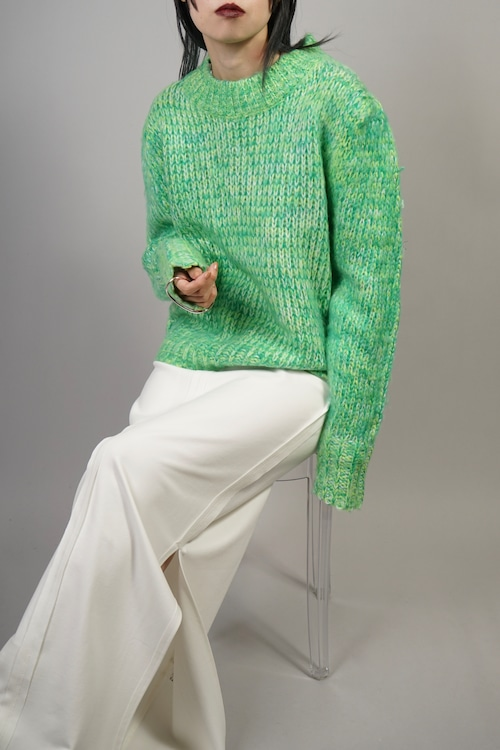 MIX COLOR SWEATER  (GREEN) 2109-81-521