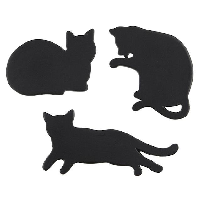 黒猫マグネット3セット/浜松雑貨屋 C0pernicus