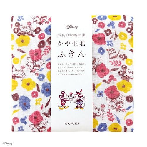 【日本製】Disney ディズニー かや生地 ふきん 『ミニーへのプレゼント』 奈良の 蚊帳生地 使用