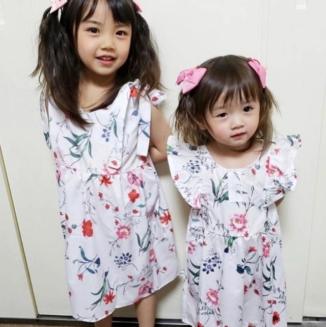 商品番号946 リンクコーデ花柄ワンピース kids