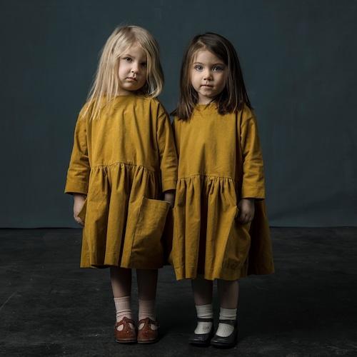 《AS WE GROW 2018AW》Pocket Dress long sleeve / mustard