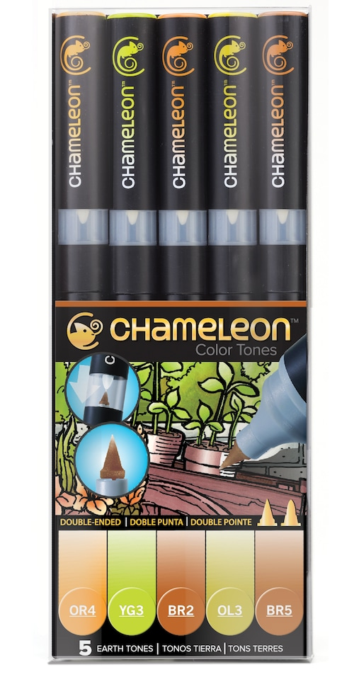 Chameleon Pen 5 Pen Earth Set (カメレオンペン 5本入りアースセット)