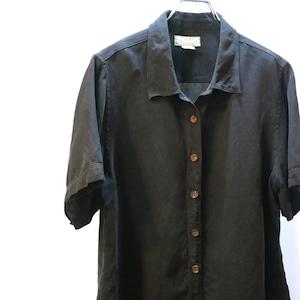 【USED】 Tommy Bahama ブラック シルクシャツ 半袖