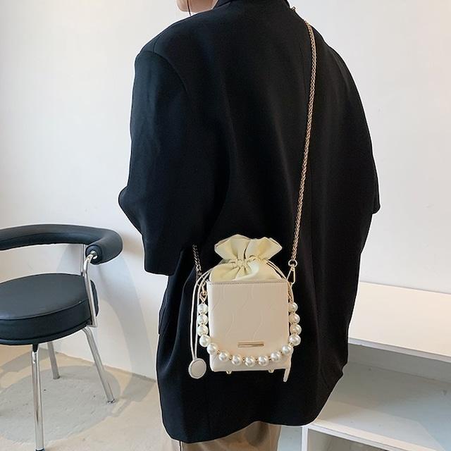 パールミニ巾着ショルダーバック S4154