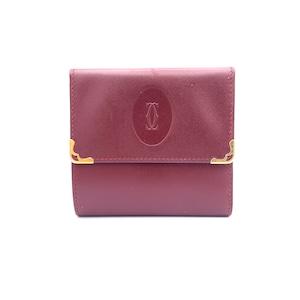 Cartier カルティエ マストライン ロゴ型押し ボルドー 財布 vintage ヴィンテージ オールド Accessories xy53dw