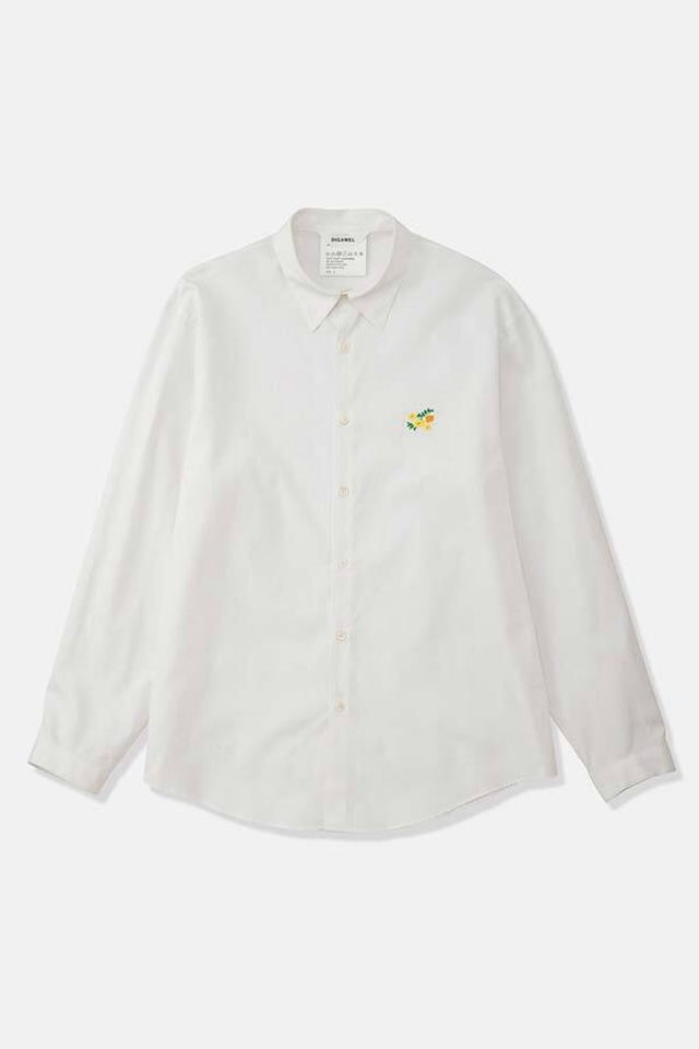 DIGAWEL / Embroidery Shirt(WHITE)