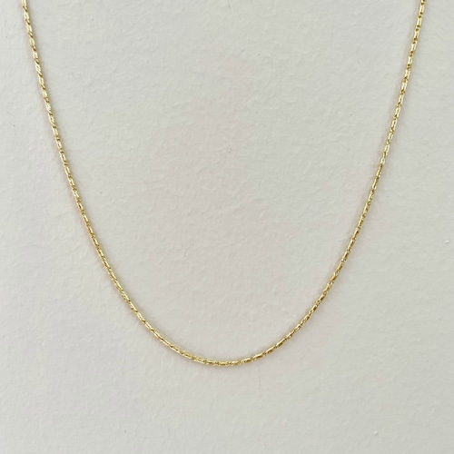【14K-3-35】18inch 14K real gold chain necklace