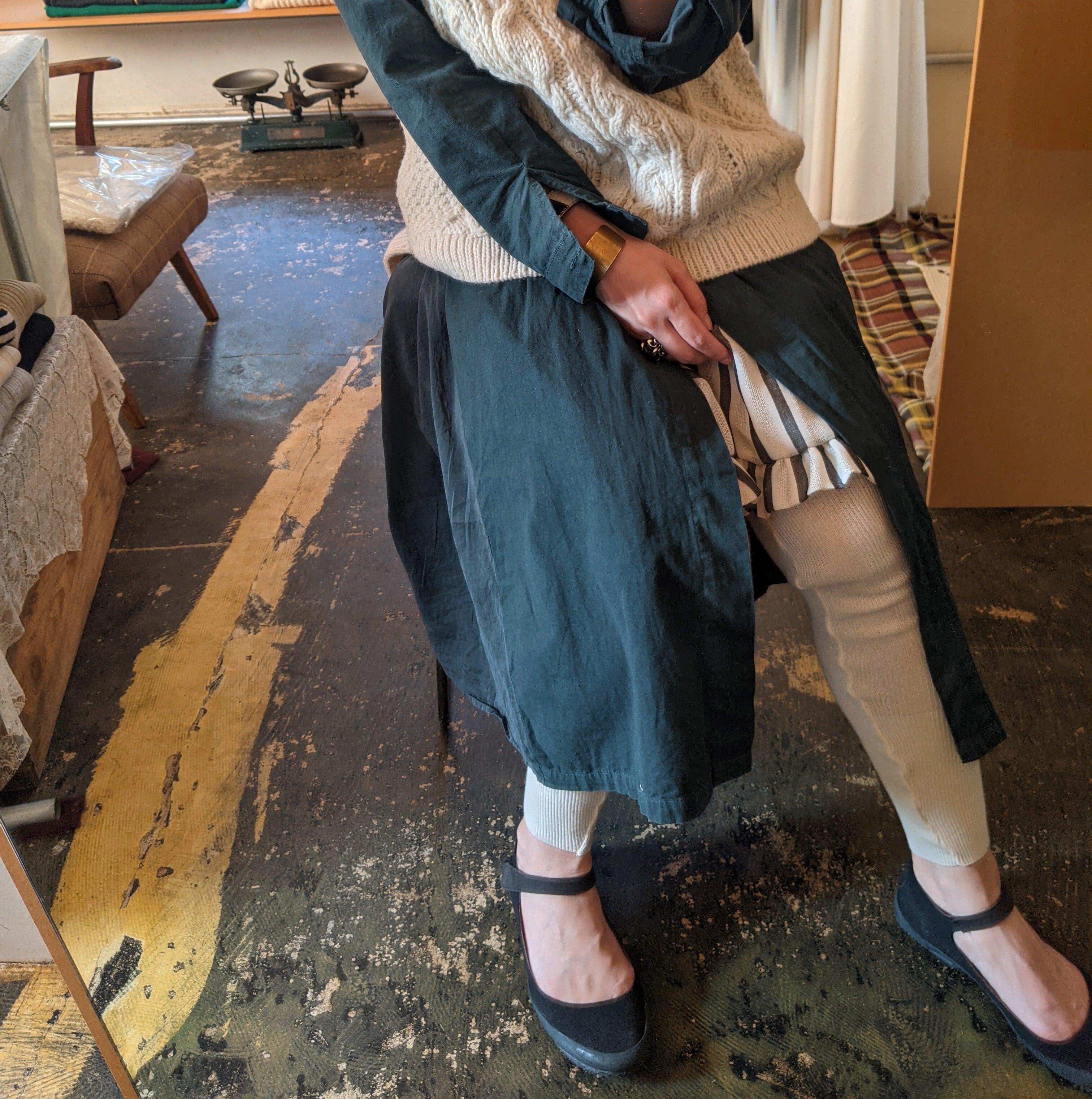 【 pra 】コットンレギンス / 天然デオドラント加工