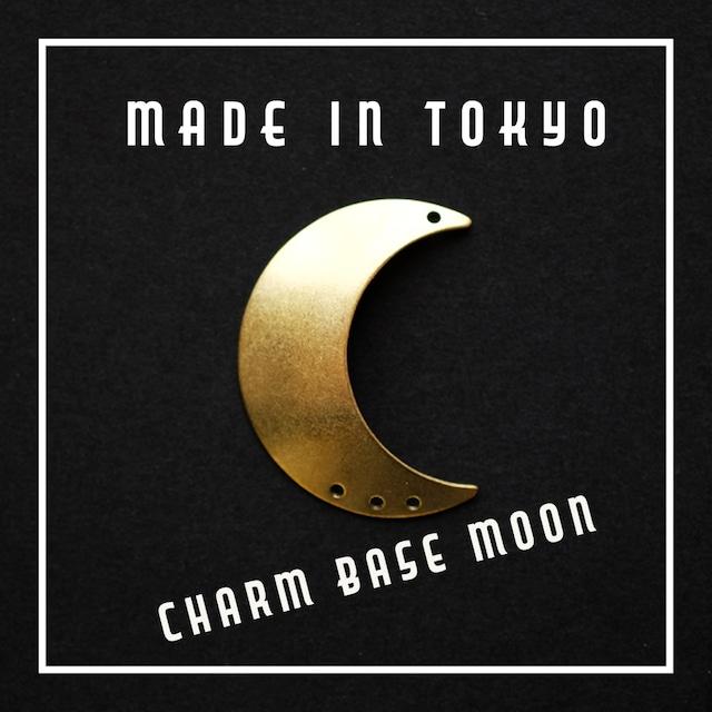 【1個】チャーム・ベース 三日月B(左用)プレーン(日本製、真鍮、無垢)