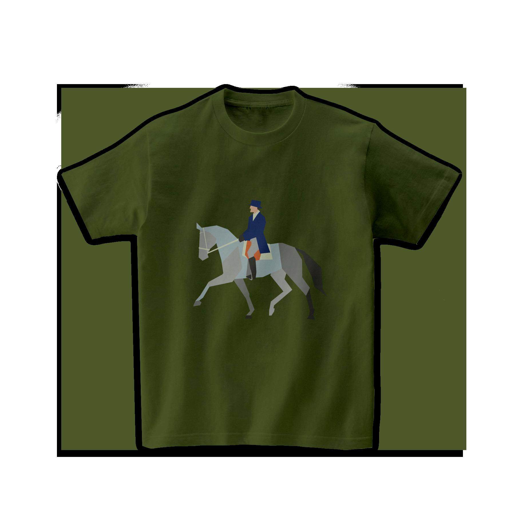 馬術Tシャツ-馬場馬術
