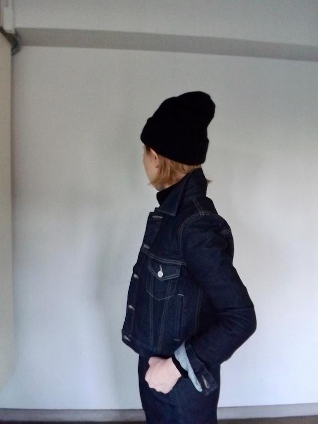 Women  {CJ001-0100}  Indigo 80sデニムジャケット [Gジャン]  ワンウオッシュ,岡山デニム,日本製,ボーイな女,セットアップ
