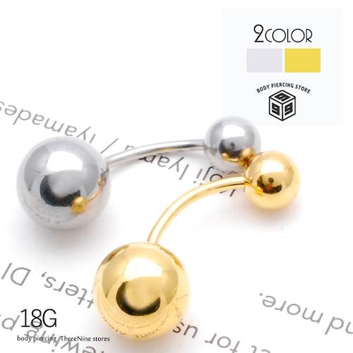 ボディピアス 18G  8mm 5mm シンプル バナナバーベル 片耳 軟骨ピアス TPB034
