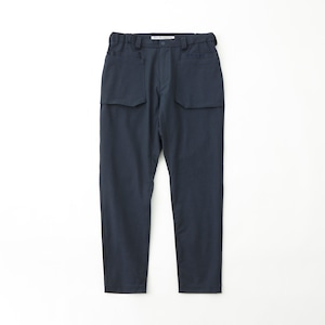 STRETCHED TWILLED DOUBLE POCKET PANTS - NAVY
