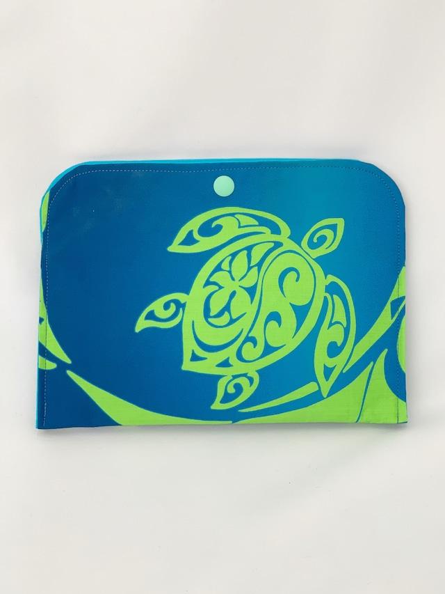 【一点ものにつき無くなり次第終了】T's gallery original カードが仕分けしやすいバッグインバッグ ハワイアンハンドメイド