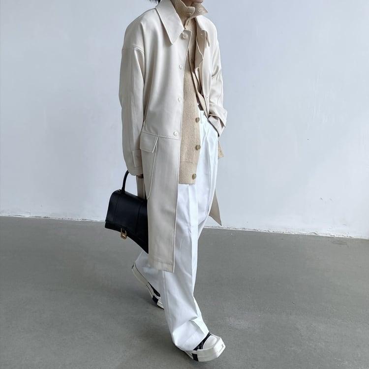 Middle length windbreaker jacket   b-469