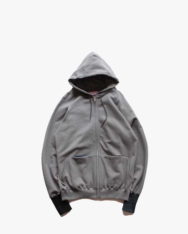 """EACHTIME. ZIP UP HOODIE  """" 4 Pockets """"  GRAY"""