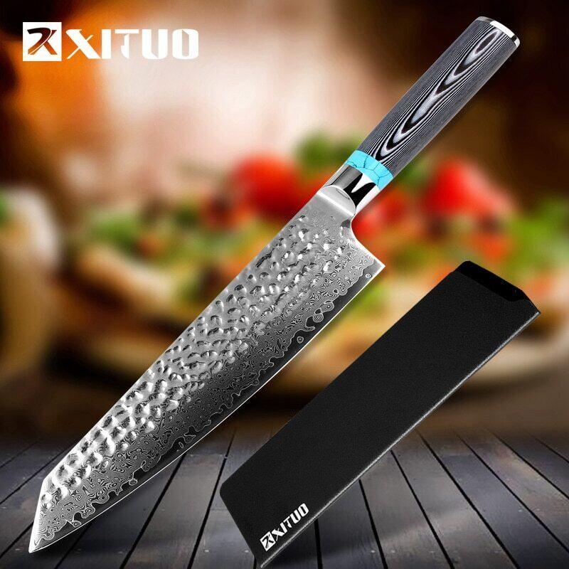 ダマスカス包丁 【XITUO 公式】 牛刀 刃渡り 20.5cm VG10  ks20081101