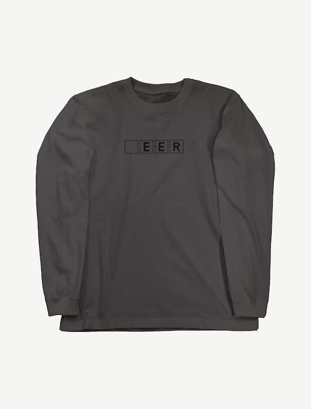 【□EER】ロングスリーブTシャツ(スミ)