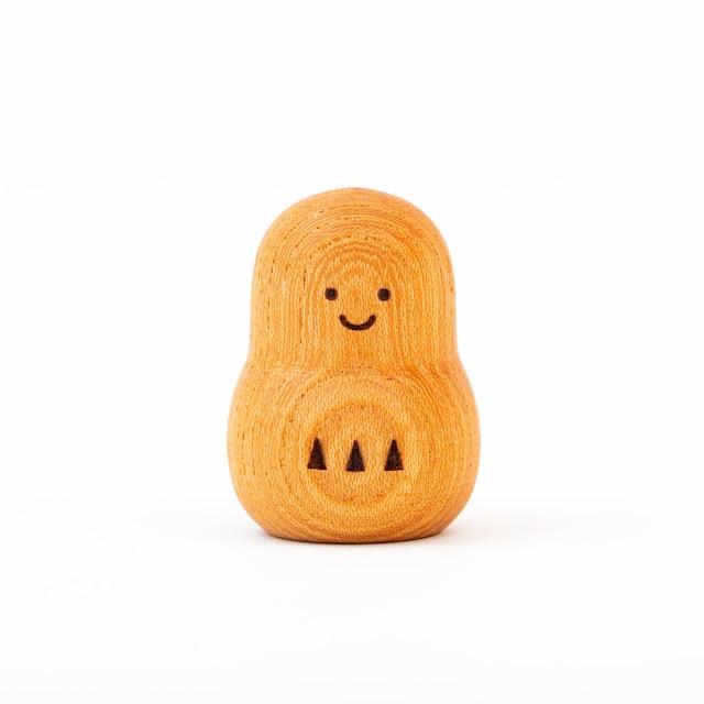 願い小だるま 【 健康・元気のオレンジ 】