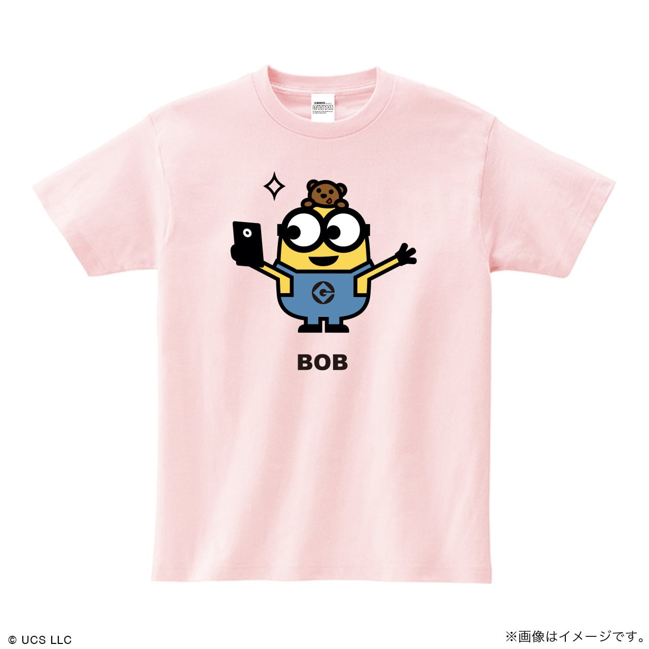 Tシャツ/ミニオン(ボブ ピンク)【MINIONS POP UP STORE 限定】