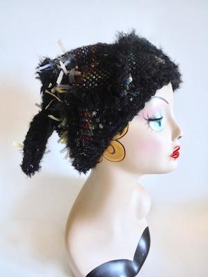 手織りのニット帽  <M57〜58cm>