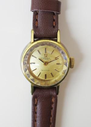 OMEGA オメガ デビル カットガラス 手巻き ゴールド 腕時計 レディース
