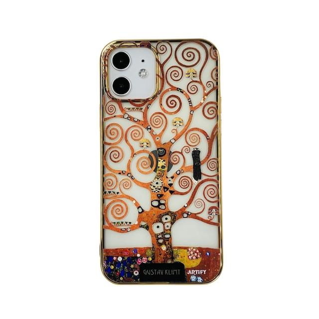 【液体無し】ARTiFY iPhone 12 / 12 Pro メッキTPU スマホケース クリムト 生命の樹 AJ00636