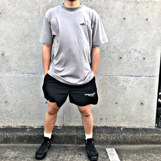 LOGO T-SHIRT / GRAY×BLACK